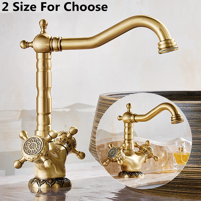 High Quality Dual Handle Bronze Basin Faucet Hot and Cold Mixer Tap Fashion Swivel Bathroom Sink Faucet torneira banheiro TP1116High Quality Dual Handle Bronze Basin Faucet Hot and Cold Mixer Tap Fashion Swivel Bathroom Sink Faucet torneira banheiro TP1116