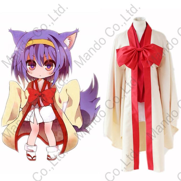 Anime No Game No Life Hatsuse Izuna Cosplay Costumes Girls Japan Kimono Uniform Dress Women Halloween Cosplay Party Fancy Outfit