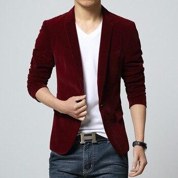 Men's pure color suit 2020 velvet leisure suit During the spring and autumn fashion suits
