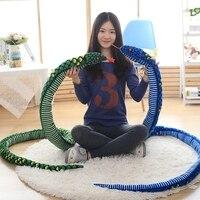 PUNIDAMAN Giant Simulation Snake Cloth Toy Soft Stuffed Dolls Birthday Gifts Baby Funny Plush Toy long 280cm Snake Plush Toy