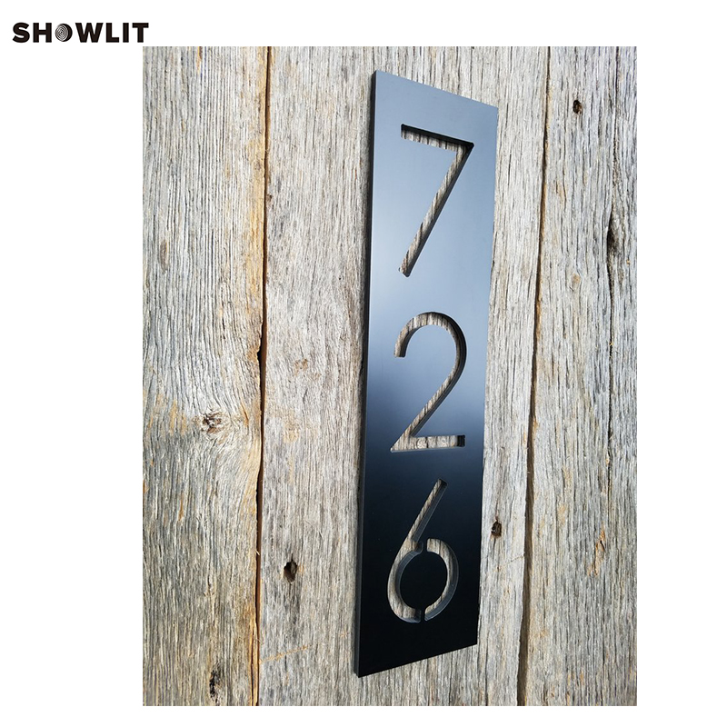 Black Painted Stainless Steel Outdoor Address Plate цена