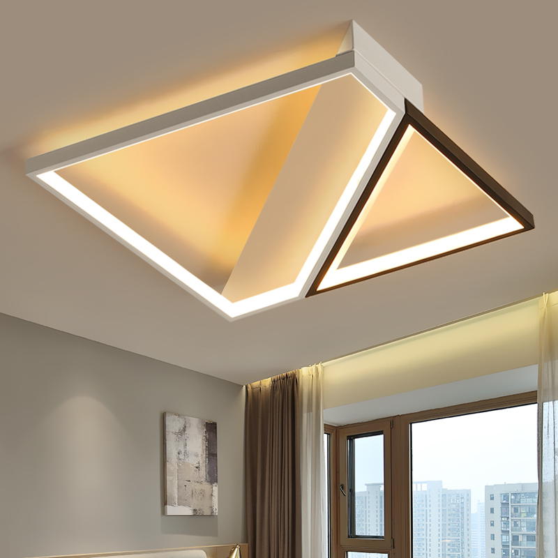 Modern Led Ceiling Lights for Living Room Ceiling Lamp with Remote Control Flush Mount Kitchen Lamp