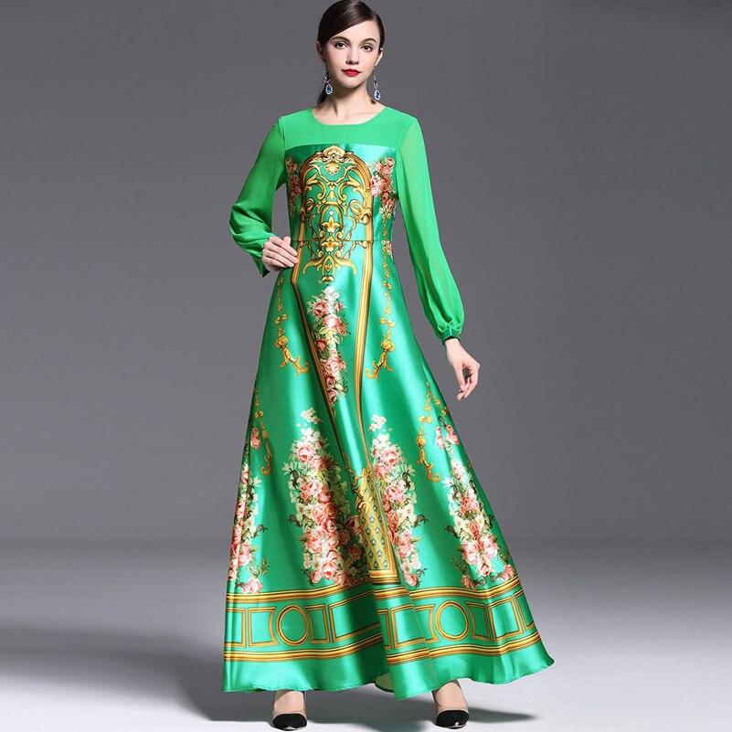 Elegant Designer Maxi Dress 2016 Կանանց տպագիր - Կանացի հագուստ - Լուսանկար 2