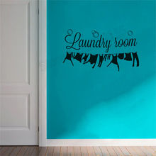 Home decoration Funny laundry room Decorative stickers Vinyl poster Wall sticker for Signs wall ZW01