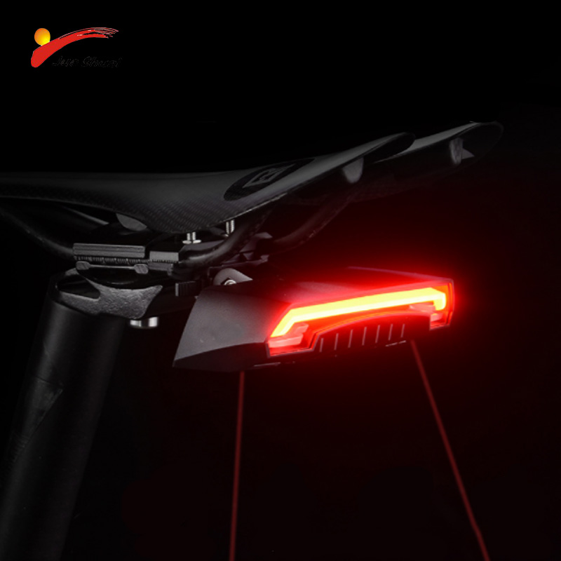 цена на Red LED Bicycle Taillight Turn Signal Laser Light Safety Warning Flashlight Cycling Accessories USB Charging Bicycle Rear light