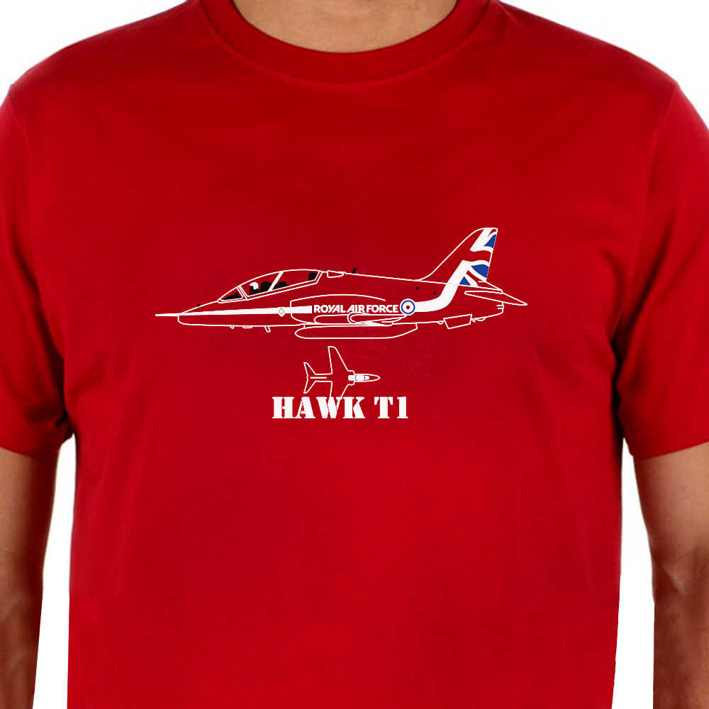 Fashion 2018 Men Short Sleeve T Shirt Aeroclassic Red Arrows Hawk T1 Aircraft Inspired Casual T Shirt Cool Summer Tees