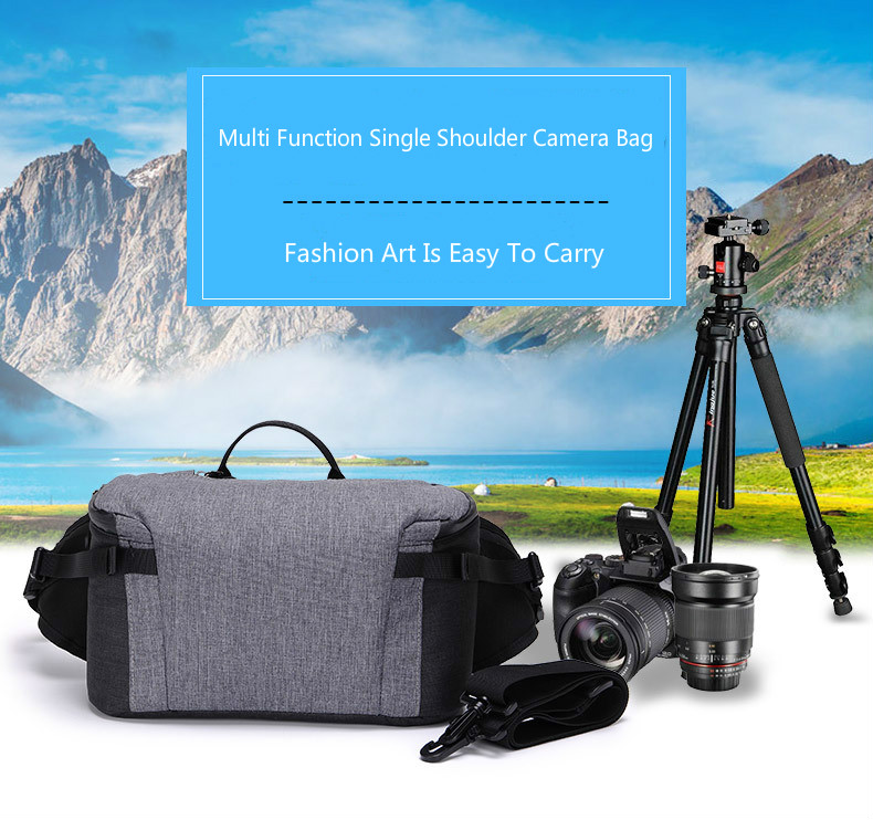 New Waterproof Camera Bag Multi-function SLR Camera Backpack Outdoor Single Shoulder Photograph Bag for Canon Nikon Sony