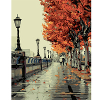 Y18 Autumn Scenery Lovers Framless Creative Digital DIY Oil Painting On Canvas Painting By Numbers For