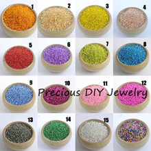 19 colors 2mm 1500pcs Silver Lined Crystal Czech Seed Glass Spacer beads For Jewelry Handmade DIY Free shipping BLGY02X