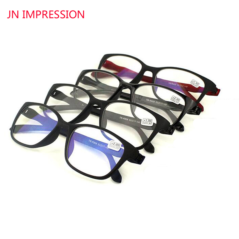 JN IMPRESSION 4 Pack Anti Blue Rays Reading Glasses Men Women High Quality TR90 Material Reading Eyeglasses Prescription +1.0-4