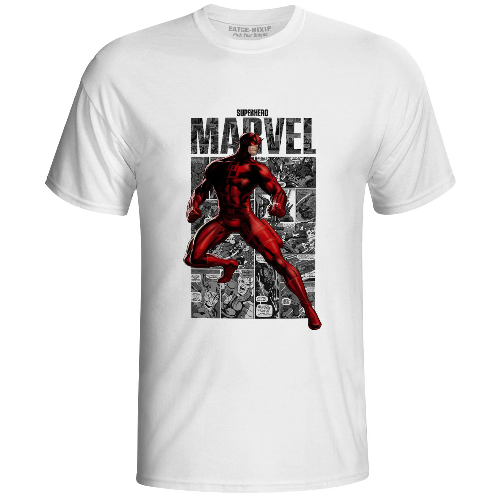 DareDevil T Shirt Superhero Comics Skate Super Hero Creative Punk T-shirt Rock Cool Print Unisex Men Women Top Tee image