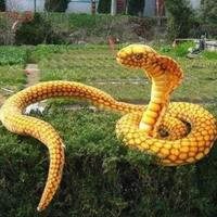 2 meters Simulation toy snake, gold python, boa constrictor snake Zodiac baby doll mascots, plush toys