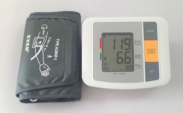 Portable Household Health Monitor Digital Upper Arm Blood Pressure Electronic Automatic Monitor Heartbeat Indicator Tonometer 16