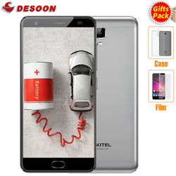 Case+Film) Oukitel K6000 PLUS Mobile Phone 6080mAh 4GB+64GB 12V/2A QC Octa Core Cellphone MTK6750T Smartphone 16MP Fingerprint