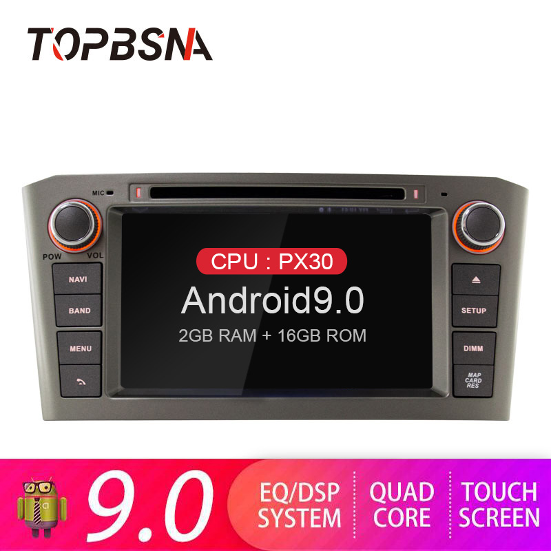 TOPBSNA <font><b>Android</b></font> 9.0 Car DVD Multimedia player For <font><b>Toyota</b></font> Avensis <font><b>T25</b></font> 2003-2008 2 Din Car Radio GPS Navigation Video headunit RDS image