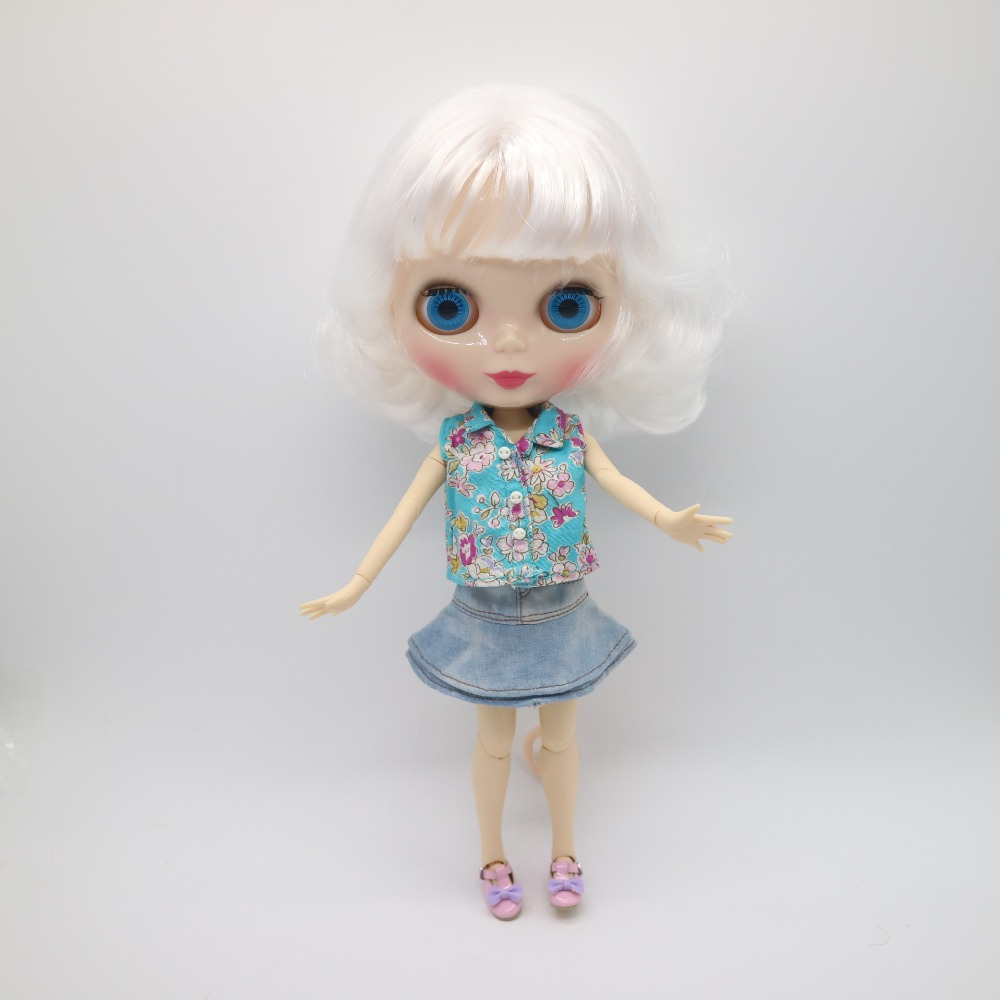 joint body Nude Blyth Doll,black skin brown hair Factory
