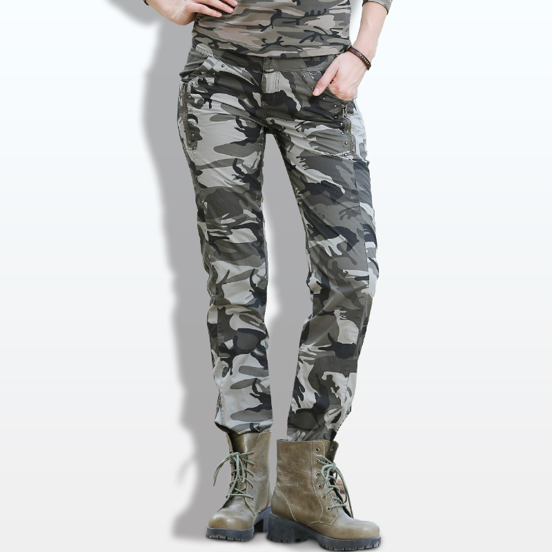 New Design Summer Casual Pants Military Camouflage Pants Women High Quality Outdoor Sports Slim Fit Joggers For Women Gk-9522B
