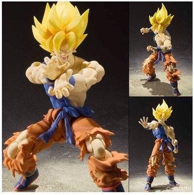 Shang ji x figurine originale BANDAI Tamashii Nations S. H. Figuarts (SHF)-Super Saiyan Son Goku de