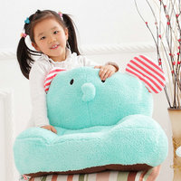 Drop shipping Cute elephant/pig plush toys learning sitting baby seat child at home soft kids totoro plush Cushion baby pillow