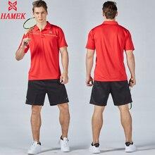 Для мужчин Набор для тенниса Новинка спортивной серии Рубашки для мальчиков с Шорты для женщин влагу обучение игре Костюмы мужской Теннис Бадминтон костюм