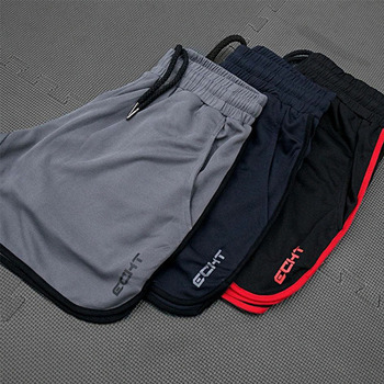 New Men Fitness Bodybuilding Shorts Man Summer  Workout Male Breathable Mesh Quick Dry Sportswear Jogger Beach Short Pants 3
