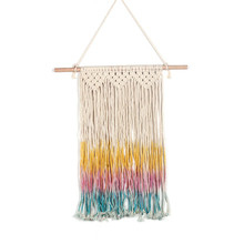 Wall decoration bohemian woven tapestry color tassel wall Nordic home wedding curtain macrame