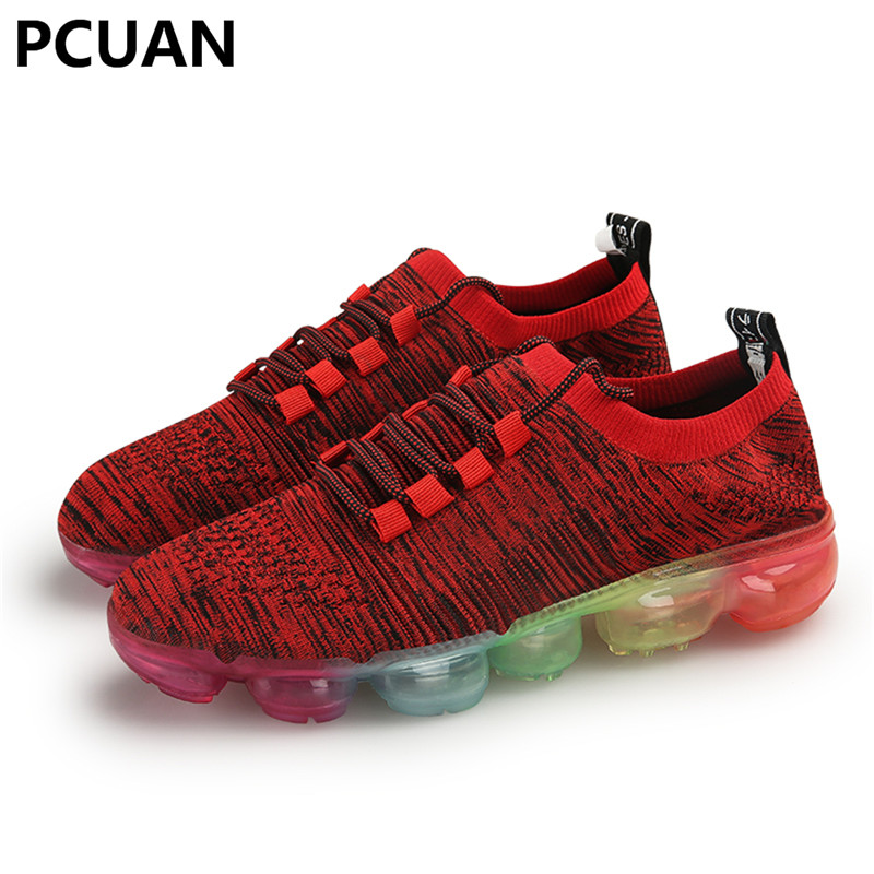 25f93c4b02cde US $28.08 10% OFF|Large size high elastic shoes 45 46 yards 47 men Cross  border Wish Amazon Air cushion flying weaving Autumn and winter new  style-in ...