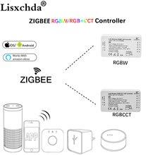 GLEDOPTO mostem ZIGBEE app Led kontroler RGBW ściemniacz kontroler taśmy DC12/24 V comptible z LED echo zll standardowy LED
