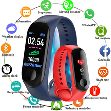 M3 Smart Bracelet Blood Pressure Heart Rate Monitor Fitness Band Pedometer Watch men PK Mi band
