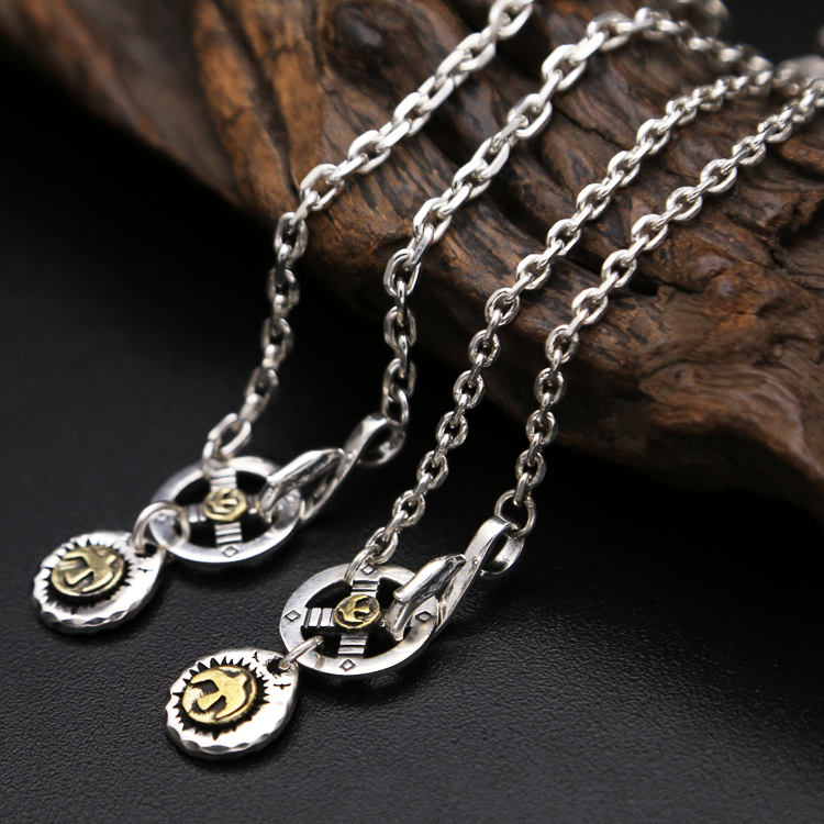 Solid Silver 925 Vintage Indian Style Long Chain Necklace Men Women For Jewelry Making Solid 925
