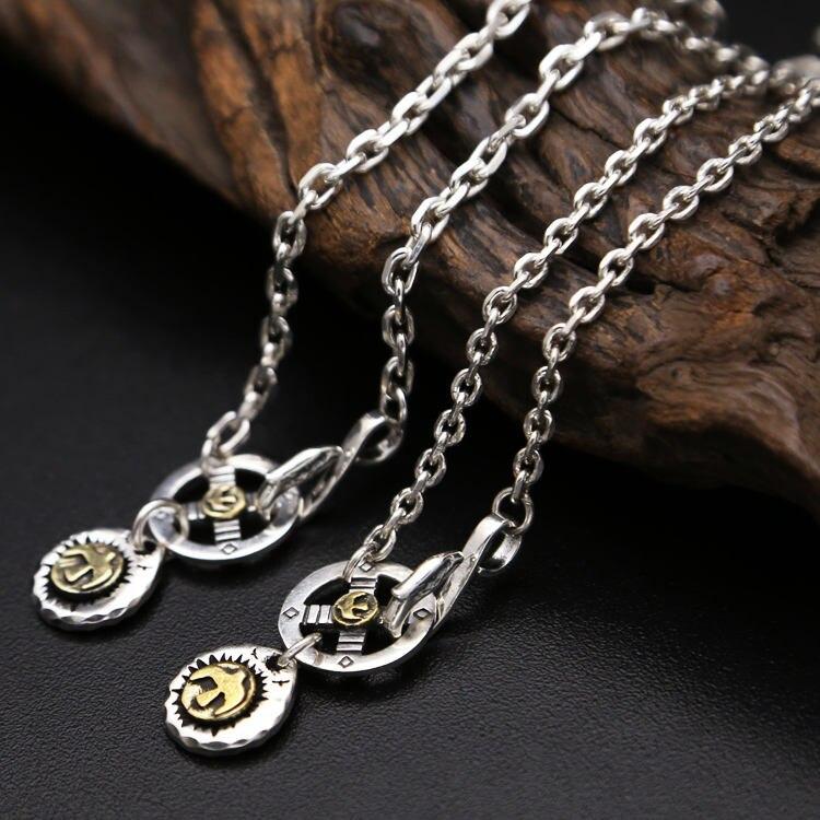 Solide argent 925 Vintage Style indien longue chaîne collier hommes femmes pour la fabrication de bijoux solide 925 Sterling argent collier hommes
