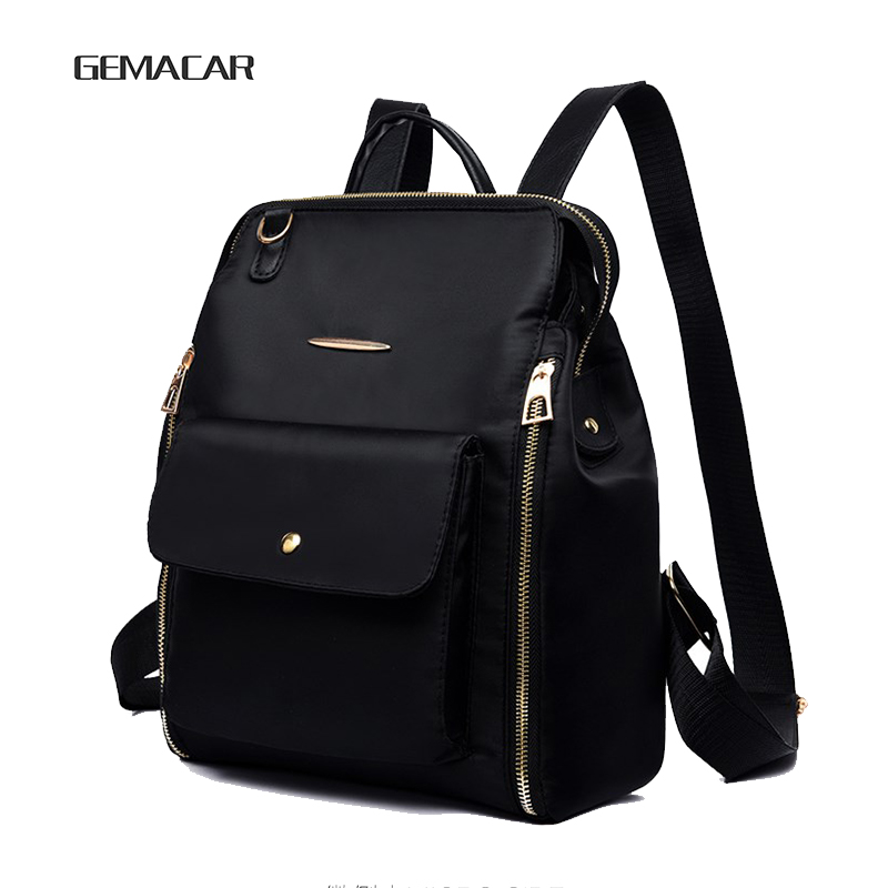 Female Classic Fashion Design Of Oxford Soft Cloth Backpack Can Cross The Cross Waterproof Lightweight Casual Women's Bag Solid
