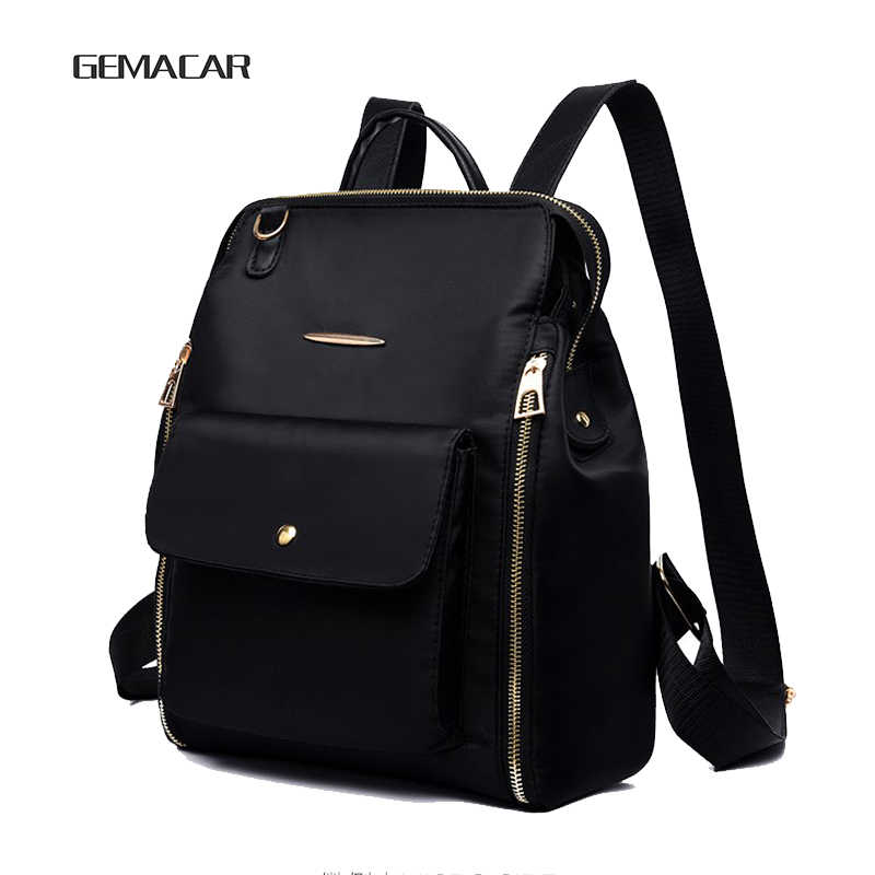 7bbe20a84bf9 Female Classic Fashion Design Of Oxford Soft Cloth Backpack Can Cross The  Cross Waterproof Lightweight Casual