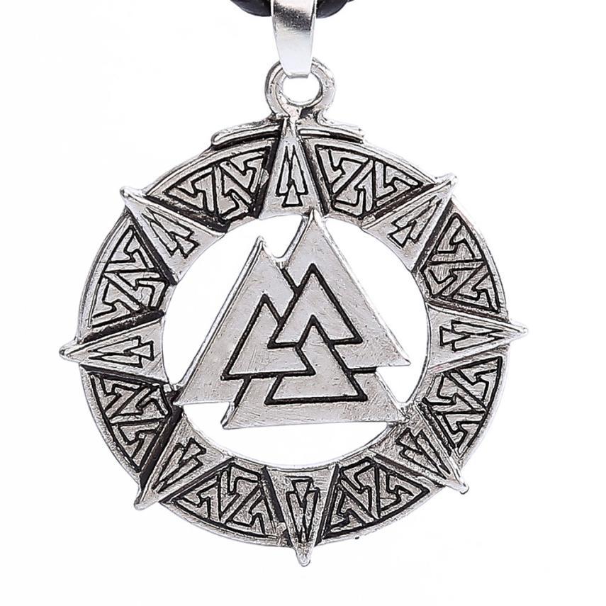 Bling-world Fashion Slavic Norway Valknut Pagoda Amulet Symbol Of Norse Viking Warrior Chain Necklace Pendant Jewelry Gift Sep18