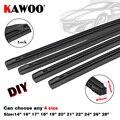KAWOO Hoja (recarga) de limpiaparabrisas como tiras de goma para vehículos de 8mm 14 16 17 18 19 20 21 22 24 26 28 4pzs / caja accesorios del auto