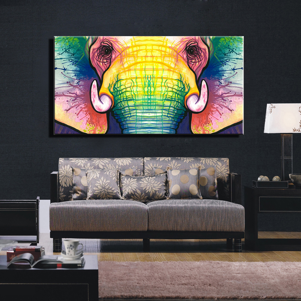 Modern Painting For Living Room Aliexpresscom Buy Large Single Abstract Modern African Animal