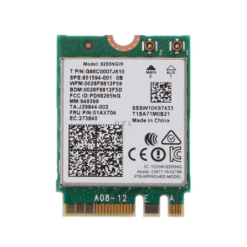 Dual Band Wireless Next Generation Form Factor Wifi Card For Intel 8265 AC AC8265 8265NGW M.2 2.4/5GHz(China)