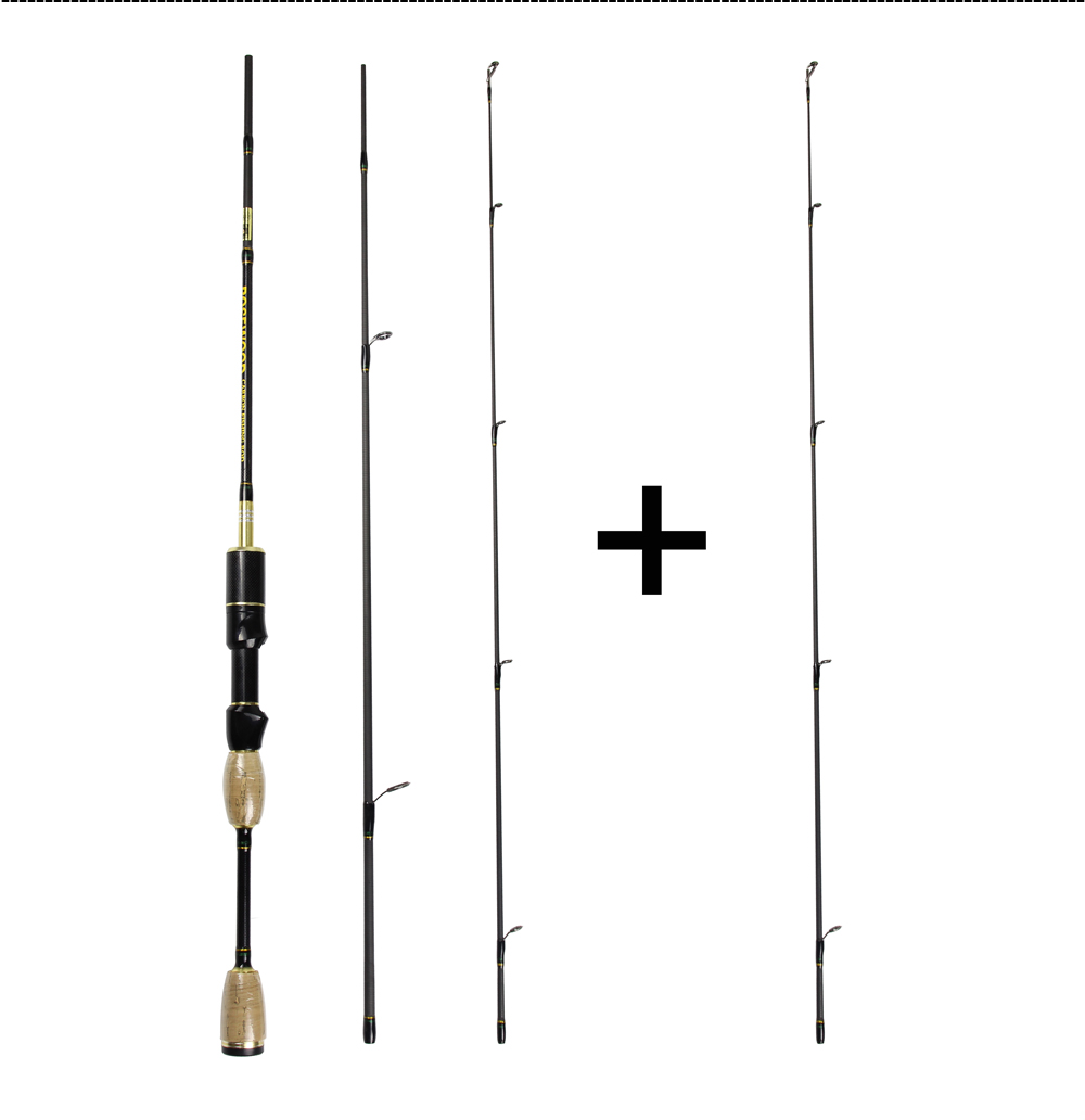 Cheap UL Casting Spinning Fishing Rod 1.8m Ultra Light Carbon Fiber Rods 2 Top Tips 3 Sections Lure Weight 0.8-5g Tackle Pesca  (3)