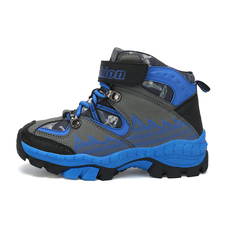 2017 Winter Boys Girls Sneakers Kids Hiking Shoes Sports Climbing Anti-slip Boots Warm Plush Snow Boots Outdoor Winter Sneakers