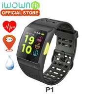 New 100 Original Iwownfit Iwown P1 Color Screen Smart Watch Heart Rate ECG Detection Built In