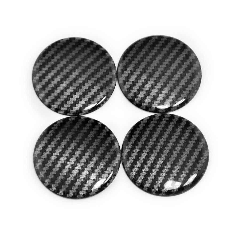 4x металл 50 мм углеродного волокна стиль автомобиля Наклейка концентратор Центральная крышка колеса Крышка стикер