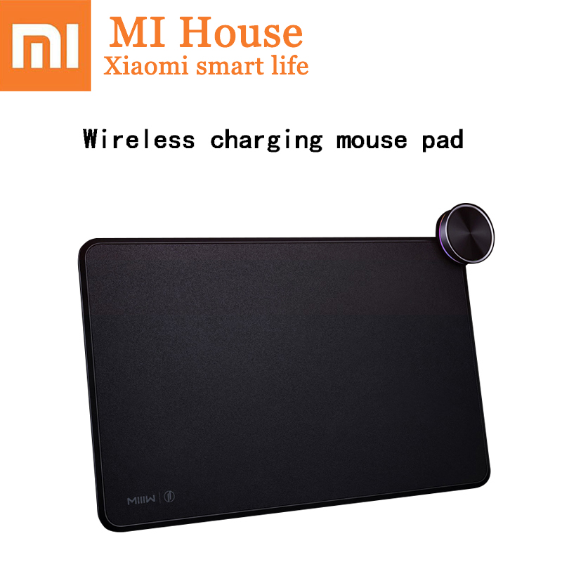 Xiao mi mi iiw tapis de souris intelligent Qi recharge sans fil mi mi x 2 S iphone Charge rapide Ga mi ng tapis de souris Xiao mi chargeur sans fil
