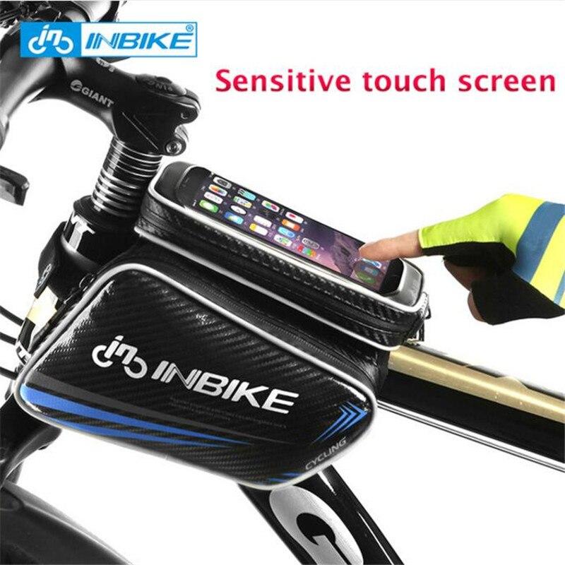 INBIKE, сенсорный экран, аксессуары для горного велосипеда, велосипедная сумка, передняя рама, верхняя труба, сумка, водонепроницаемая сумка дл...