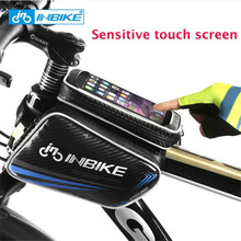 INBIKE Touch Screen Mountain Bike Accessories Bicycle Bag Front Frame Top Tube Bag Waterproof Saddle Bag Cell Phone Cycling Bag