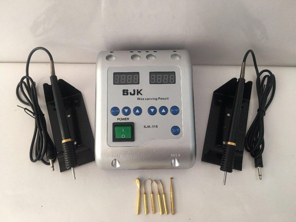 1 set équipement de laboratoire dentaire Machine à découper à la cire électrique avec 6 pointes de cire et 2 stylo à découper à la cire