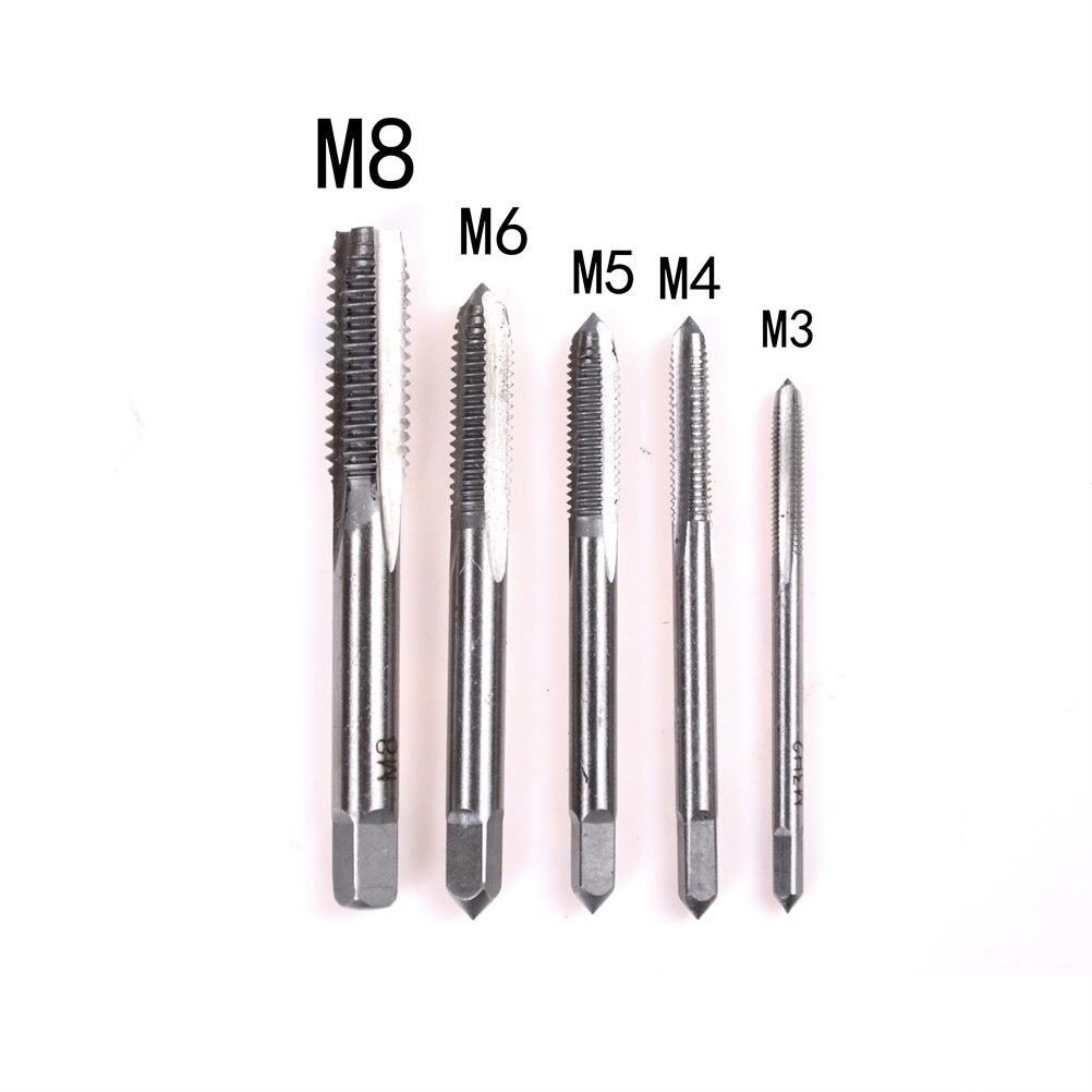 1 Набор, регулируемый M3-M8 Т-образной ручкой, трещотка, гаечный ключ, инструмент для машиниста, Реверсия с 1 шт. винтовым краном - Цвет: A