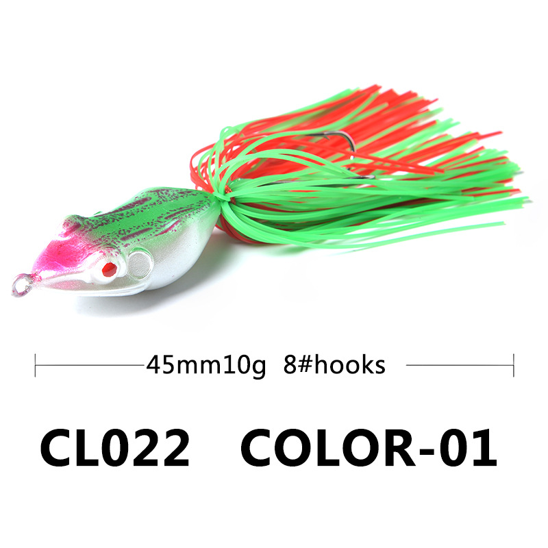 1 Piece Plastic Bait Frog Thunder Frog 4 5cm 10g Freshwater Sea Fishing Bait Hard Bait Soft Plastic Bait Fishing in Fishing Lures from Sports Entertainment