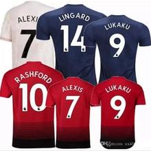 18 19 Manchester United POGBA soccer jerseys 2018 2019 football shirt MATA ALEXIS  LINGARD RASHFORD LUKAKU MARTIAL home away 3rd 927ff66d1
