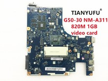ACLU9/ACLU0 NM A311 for Lenovo G50 30 Motherboard WITH CPU ( For intel cpu 820M 1GB video card ) tested 100% work