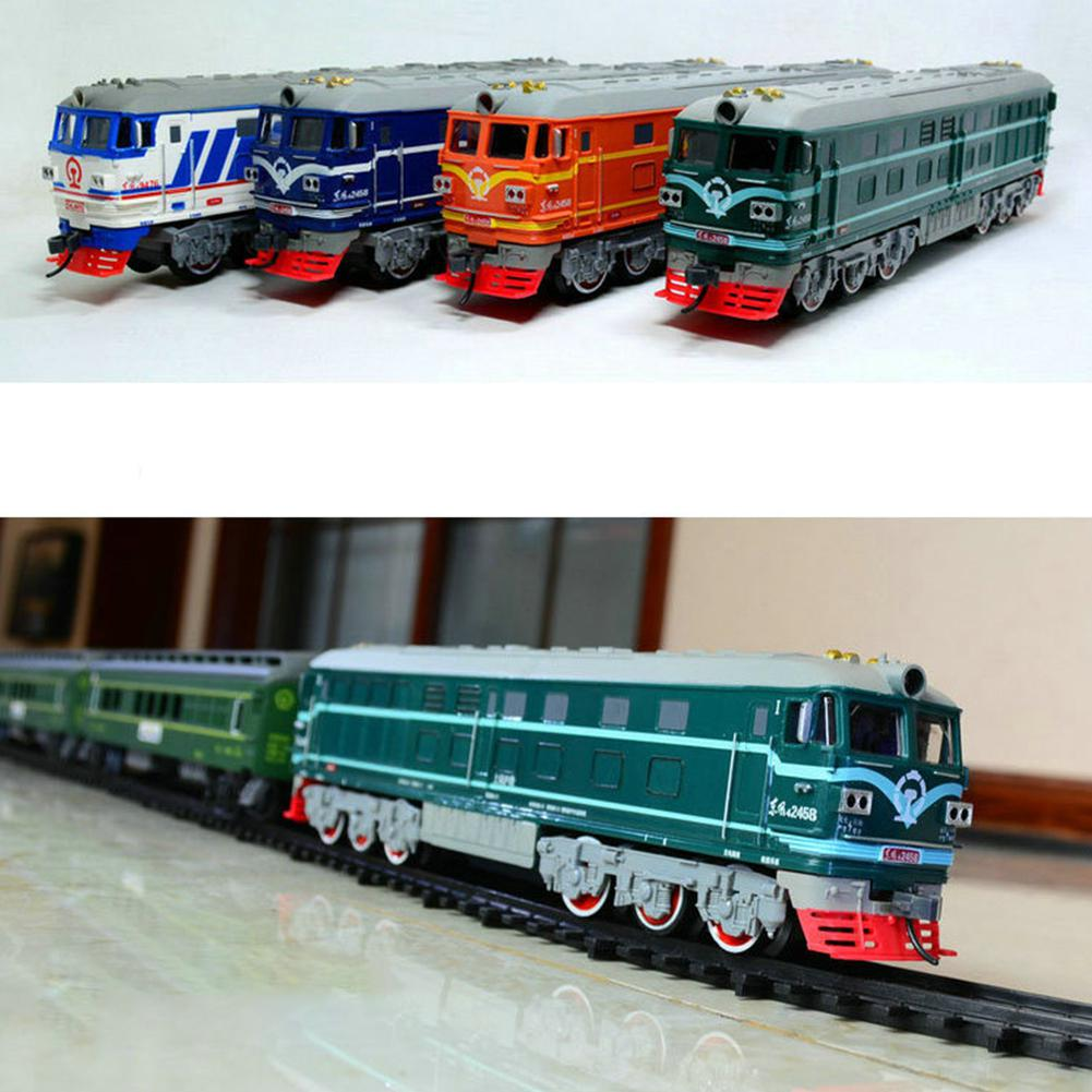 RCtown Music Track Trains Electric Toy Long Rail Cars Classic Children's Toys Train Simulation Train For Children Birthday Gift